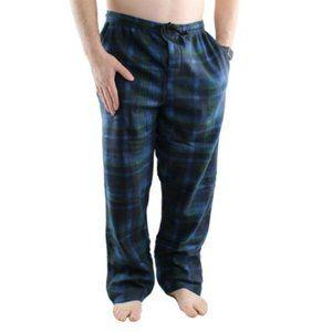 Men's Plaid Fleece Soft Warm Pajama Pants M